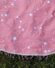PINK STARS ROUND TOWEL 2